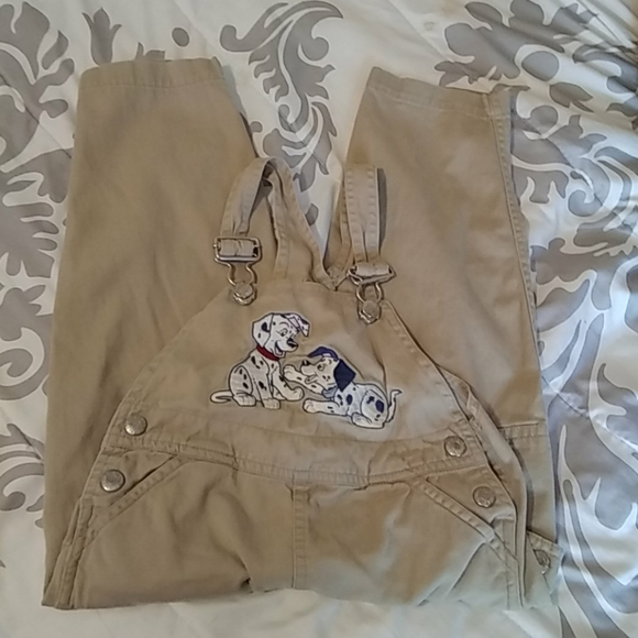 Disney Other - Disney 101 Dalmatian Bib Cotton Coveralls 3T Brown